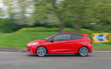 Ford Fiesta ST-Line 2018 long-term review cornering side