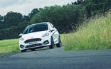 13 Ford Fiesta ST Mountune m260 2021 UK FD cornering front