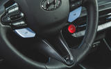 13 Hyundai i20 N 2021 UK first drive review steering wheel