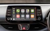 Hyundai i30 Fastback N 2019 UK first drive review - infotainment CarPlay