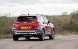 13 Hyundai Kona 1.6 hybrid 2021 UK first drive review on road rear