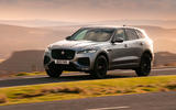 13 Jaguar F Pace 2021 UK first drive review on road front