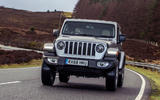 Jeep Wrangler 2019 UK first drive review - cornering front