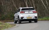 13 Kia e Niro 39kWh 2021 UK first drive review cornering rear