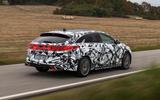 Kia Proceed GT 2018 prototype drive on the road rear