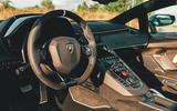 Lamborghini Aventador SVJ Roadster 2019 first drive review - dashboard
