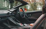 Lamborghini Huracán Spyder 2020 UK first drive review - cabin