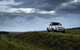 13 Land Rover Defender 90 D250 2021 UK first drive review grass