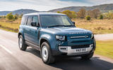 13 Land Rover Defender Hard Top Commercial 110 UK FD on road front