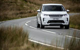 Land Rover Discovery Sport P300 PHEV 2020 UK first drive review - cornering front