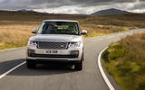 Land Rover Range Rover D350 mild hybrid 2020 UK first drive review - on the road front