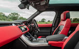 Land Rover Range Rover Sport HST 2019 UK first drive review - cabin