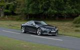 13 Lexus LC500 2021 UK FD on road front