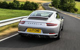 Litchfield Porsche 911 Carrera T 2018 first drive review - on the road rear