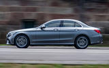 Mercedes-Benz C-Class C200 AMG Line 2018 UK review on the road side