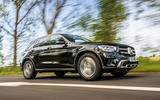 Mercedes-Benz GLC 220d 2019 UK first drive review - on the road side