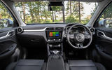 MG ZS EV 2019 UK first drive review - dashboard