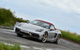 13 Porsche Boxster 25 years edition 2021 uk fd on road front