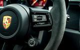 13 Porsche Macan GTS 2021 UK LHD first drive steering wheel buttons