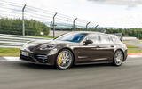 Porsche Panamera Turbo S Sport Turismo 2020 first drive review - cornering front