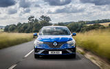 13 Renault Megane E Tech phev 2021 UK FD on road nose