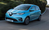 Renault Zoe GT Line R135 2019 first drive review - cornering front