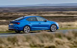 Skoda Octavia vRS TDI 2021 UK first drive review - on road rear