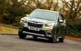 Subaru Forester eBoxer 2019 UK first drive review - cornering front