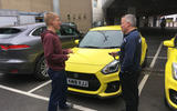 Suzuki Swift Sport 2018 long-term review James Attwood collecting keys