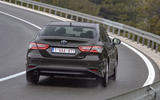 Toyota Camry 2019 European first drive review - cornering rear