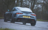 13 Toyota GR Supra 2 litre 2021 UK first drive review on road rear
