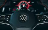 13 Volkswagen Golf GTI Clubsport 45 2021 UK FD steering wheel