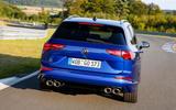 13 Volkswagen Golf R Estate 2021 first drive tracking rear