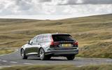 Volvo V90 B5 2020 UK first drive review - cornering rear
