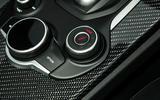 Alfa Romeo Stelvio Quadrifoglio 2018 UK RHD first drive - drive mode dials