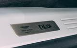 Aston Martin DBS Superleggera Volante 2019 UK first drive review - plaque