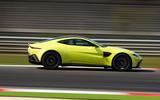 Aston Martin Vantage on the track side