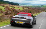 Aston Martin Vantage Roadster 2020 UK first drive review - on the road rear