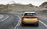 Audi Q8 2018 first drive review cornering rear