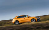 Audi Q8 50 TDI Quattro S-Line 2018 UK first drive on the road side