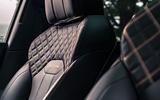 Bentley Bentayga 2020 UK first drive review - seat details