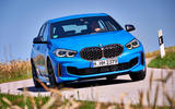 BMW 1 Series M135i 2019 first drive review - cornering front