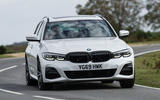 BMW 3 Series Touring 330d 2019 UK first drive review - cornering front