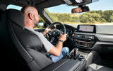 BMW M5 Competition 2018 first drive review Matt Prior driving
