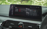 14 BMW M5 CS 2021 UK FD infotainment