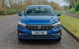 14 Dacia Sandero BiFuel 2021 UK first drive on road nose