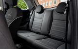 14 Fiat 500e Action 2021 UK FD rear seats