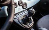 Fiat Panda Cross Hybrid 2020 first drive review - gearstick