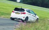 14 Ford Fiesta ST Mountune m260 2021 UK FD cornering rear