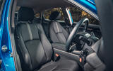 Honda Civic saloon 2018 UK first drive review front seats